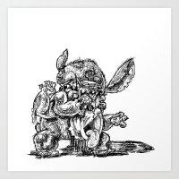 lilo and stitch Art Prints featuring Zombie Stitch | Disney's Lilo and Stitch by Aaron Bowersock
