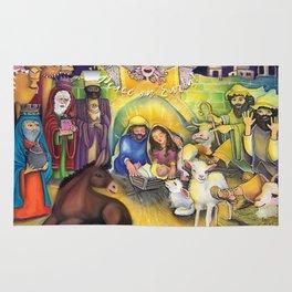 Peace on Earth Nativity Rug