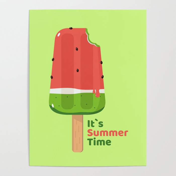 It's Summer Time Popsicle Poster