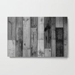 Reclaimed wood Metal Print