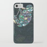 sloths iPhone & iPod Cases featuring Sleepy Sloths by LindseyRossInk