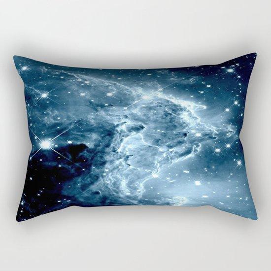 Ice Blue Galaxy : Monkey Head Nebula Rectangular Pillow