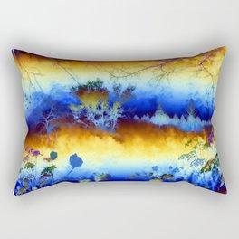 ABSTRACT - My blue heaven Rectangular Pillow