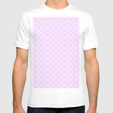 Honeycomb Doily  Mens Fitted Tee MEDIUM White