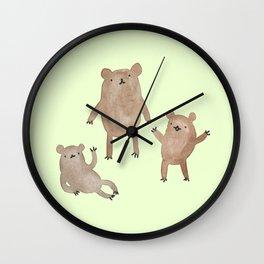 Three Bears Wall Clock