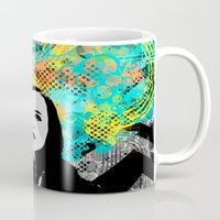 inception Mugs featuring Ellen Page Inception Print by mikailah.clark