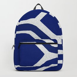 Blue and White and Bold Backpack