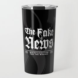 The Fake News Header Travel Mug