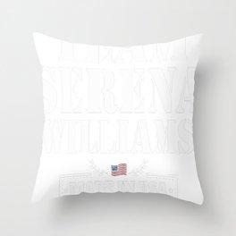 serena williams tennis Throw Pillow