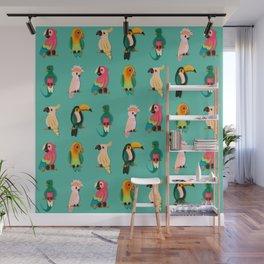 Tropical Tweet Wall Mural