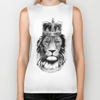the lion king Biker Tanks featuring Lion King by dalsdesign