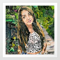 bianca green Art Prints featuring Bianca by Maritza Hernandez
