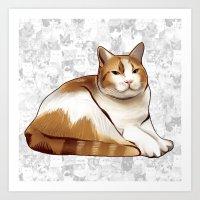 tigger Art Prints featuring Tigger by EggsBFF