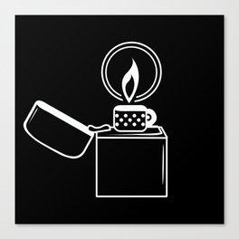 Lighter White on Black Canvas Print