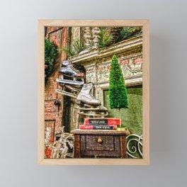 Antique Fireplace Decor Framed Mini Art Print