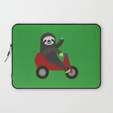 Sloth on Tricycle Laptop Sleeve