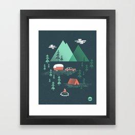 Pitch a Tent Framed Art Print