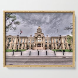 Wyoming Capitol Building Serving Tray