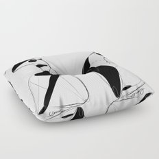 Fuck gravity - Emilie Record Floor Pillow