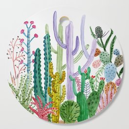 Succulent Happy Garden Cutting Board