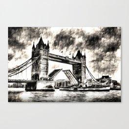 Tower Bridge and the Waverley Art Canvas Print