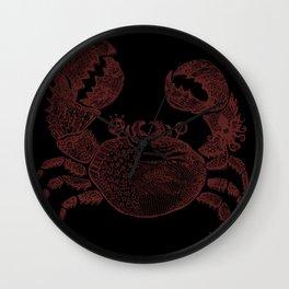 sea crab Wall Clock