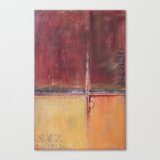 Cargo - Textured Abstract Painting - Red, Gold and Copper Art Canvas Print