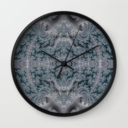 Frosty Garden of Queen Anne's Lace Fractal Abstract Wall Clock