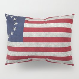 Thirteen point USA grungy flag Pillow Sham