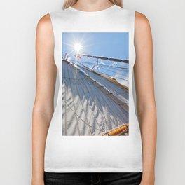 White Sails and Sunshine Biker Tank