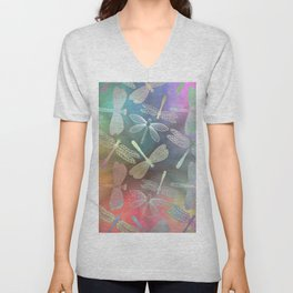 Dragonfly Dance Unisex V-Neck