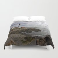 maine Duvet Covers featuring Maine Splendor by Catherine1970