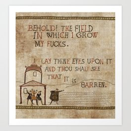 Behold the field Art Print
