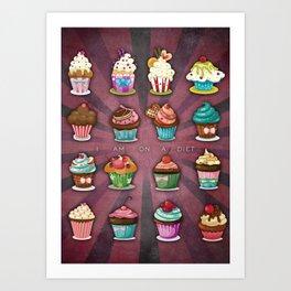 Cupcake Diet, Sweet Lifestyle Art Print