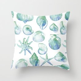 you, me & the sea Throw Pillow