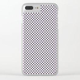 Indigo Polka Dots Clear iPhone Case