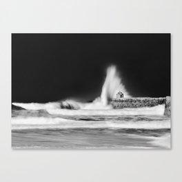 Pounding Canvas Print