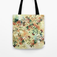 roses Tote Bags featuring Roses by RIZA PEKER
