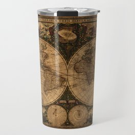 Nova Totius Terrarum Vintage Map Travel Mug