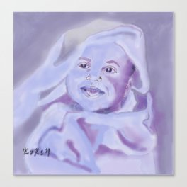 Smiling baby Canvas Print