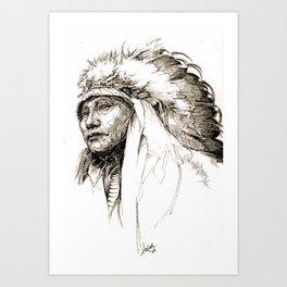 HOLLOW HORN BEAR Art Print