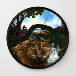 The Jaguar Guardian Wall Clock