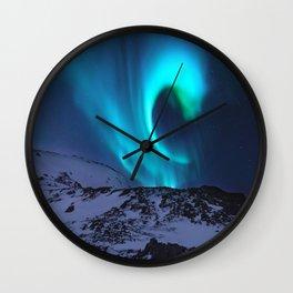 Aurora BorealiS Mountains Wall Clock