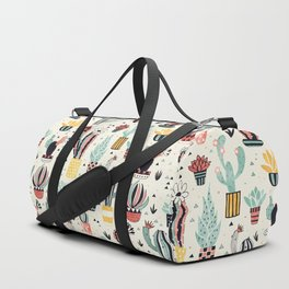 Cacti in a Flower Pot Duffle Bag