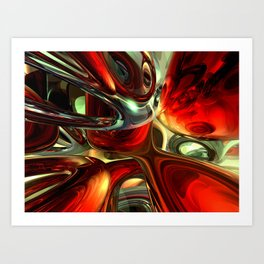 Sanguine Abstract Art Print