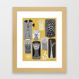 Vases and Stripes Framed Art Print