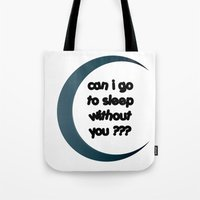 sleep Tote Bags featuring Sleep by Cs025