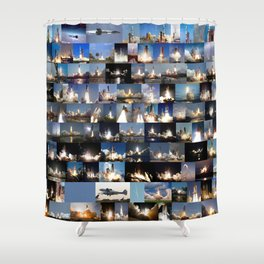 Crewed flights to space launched from the United States Shower Curtain