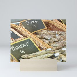 Food on a summer market in France - Travel photography Mini Art Print