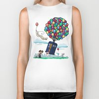 hallion Biker Tanks featuring Come Along, Carl by Karen Hallion Illustrations